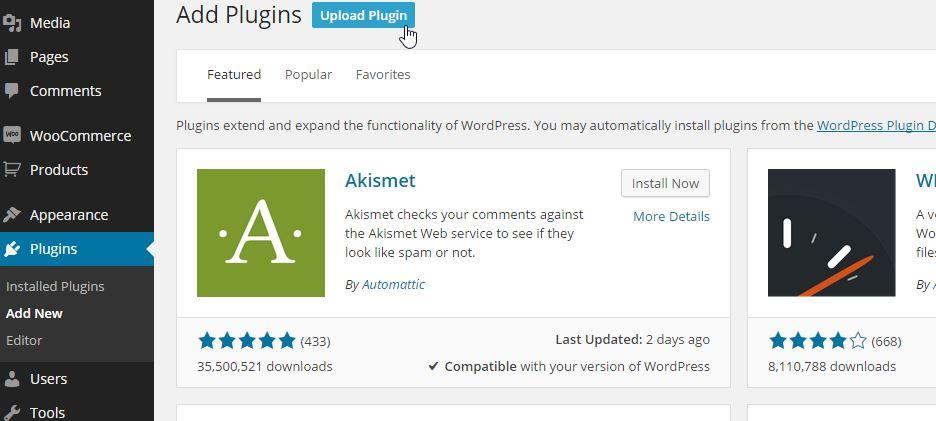 add wordpress plugin