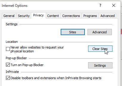 הגדרות Privacy